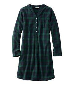 スコッチ・プラッド・フランネル・ナイトシャツ、ポップオーバー プラッド, , hi-res