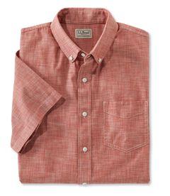 イージーケア・シャンブレー・シャツ、トラディショナル・フィット 半袖, , hi-res