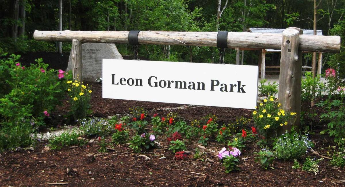 レオン・ゴーマン公園の入り口