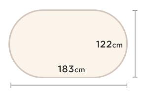 4' x 6'(122cm x 183cm)