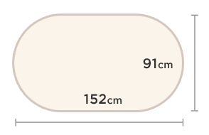 3' x 5'(91cm x 152cm)