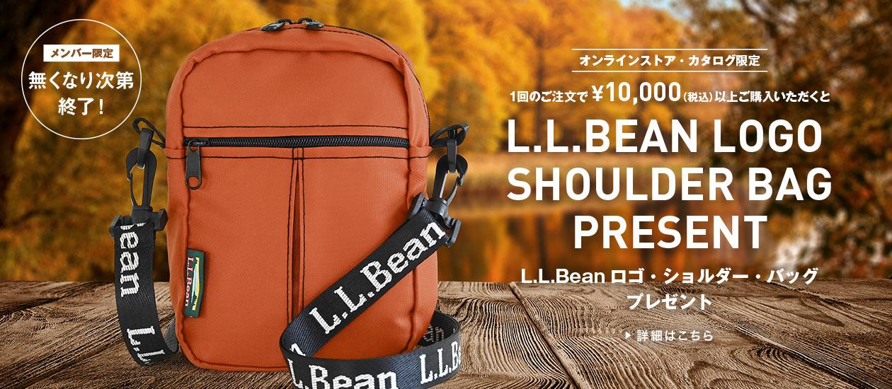L.L.BEAN LOGO SHOULDER BAG PRESENT