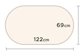 2'3 x 4' (69cm x 122cm)