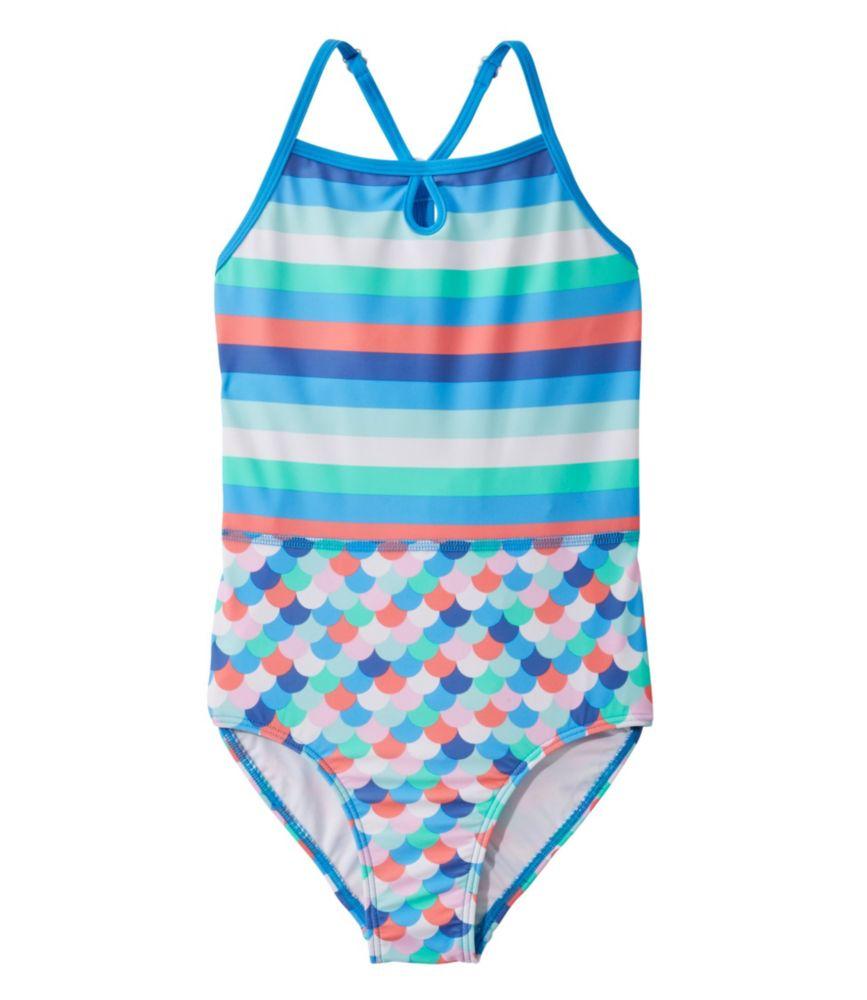ビーンスポーツ・スイムスーツ、ワンピース プリント/Girls' BeanSport Swimsuit, One-Piece Print